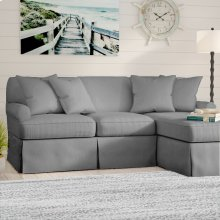 Sunset Trading Horizon Slipcovered Sleeper Sofa and Chaise - Color: 391094 - Sunset Trading