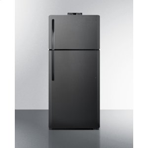 Summit21 CU.FT. Break Room Refrigerator-freezer In Black With Nist Calibrated Alarm/thermometers