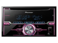 """2-DIN CD Receiver with MIXTRAX®, USB Playback, Pandora®, Android """" Music Support, and Color Customization"""