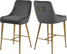 "Owen Velvet Bar  Counter Stool - 23""W x 21""D x 40""H"