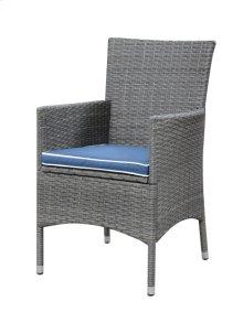 Upholstered Dining Chair-blue #v11208 (3/ctn)