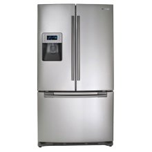26 cu. ft. French Door Refrigerator (This is a Stock Photo, actual unit (s) appearance may contain cosmetic blemishes.  Please call store if you would like actual pictures)  MANUFACTURER WARRANTY and REBATE NOT VALID with this item. ISI32366