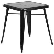 23.75'' Square Black Metal Indoor-Outdoor Table