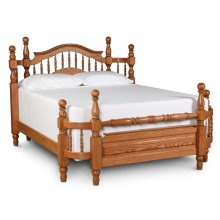 Spindle Wrap Around Bed, California King