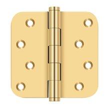 "4""x 4""x 5/8"" Radius Hinge / Zig-Zag - PVD Polished Brass"