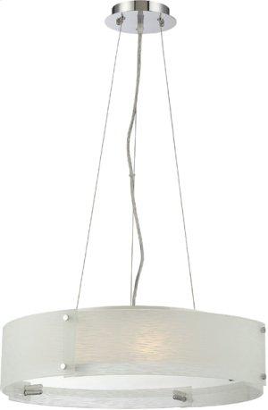 Ceiling Lamp, Chrome/4pcs Frost Glass Panel, E27 G 60wx3