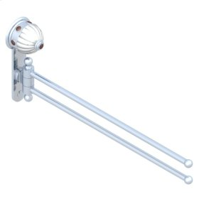 Double Towel Rail - 2 Mobile Rails - L : 400 Mm Diameter : 16 Mm