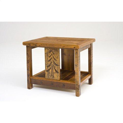 Sequoia Nightstand With Shelf Rectangle