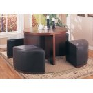 DINING CHAIR - BROWN OTTOMAN ON CASTORS Product Image