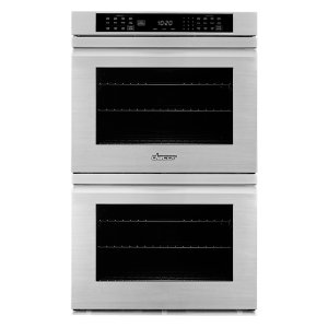 "Dacor27"" Heritage Double Wall Oven, Silver Stainless Steel with Flush Handle"