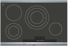 30 Stainless Steel Electric Cooktop with SteelTouch Control and AutoChef® 800 Series - Black and Stainless Steel