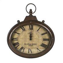 Metal Wall Clock, Brown