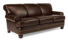 Bay Bridge Leather Sofa with Nailhead Trim