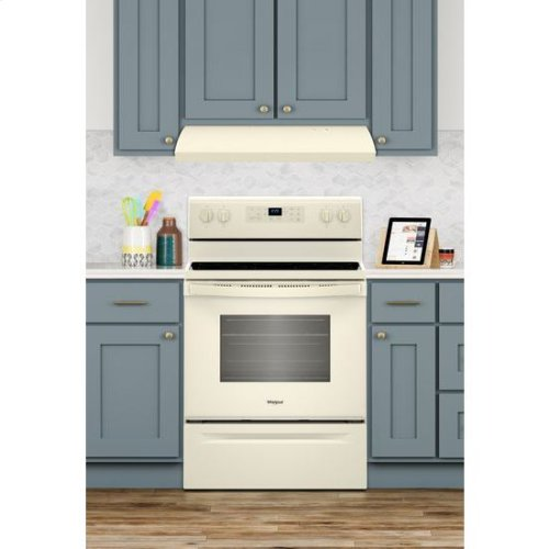 Whirlpool® 5.3 cu. ft. Freestanding Electric Range with Frozen Bake Technology - Biscuit-on-Biscuit