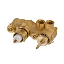 1501 Horizontal Thermostatic Rough (2 Outlets)