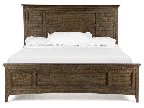 Complete Queen Panel Bed with Regular Rails