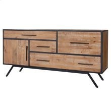 Salvatore KD Sideboard 4 Drawers + 1 Door, Rustic Gamma
