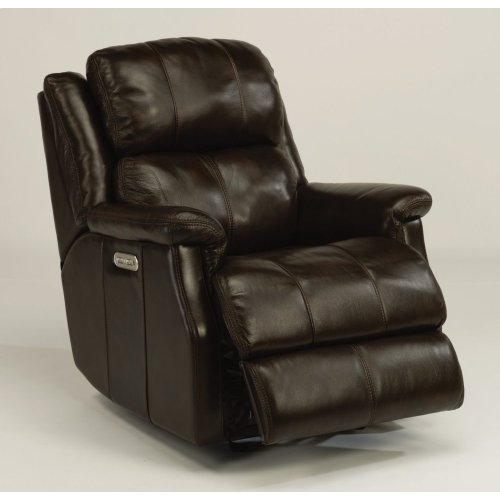 Mateo Leather Power Gliding Recliner with Power Headrest