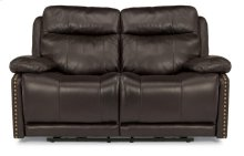 Russell Leather Power Reclining Loveseat with Power Headrests
