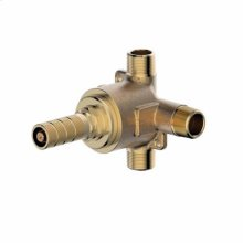 Rough valve only for 3 function 1/2in wall diverter