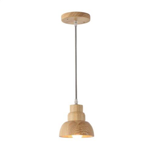 1 Light Pendant in Wood Finish