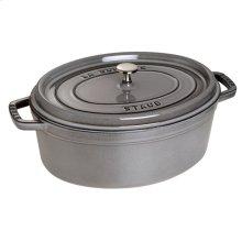 Staub Cast Iron 1-qt Oval Cocotte, Graphite Grey