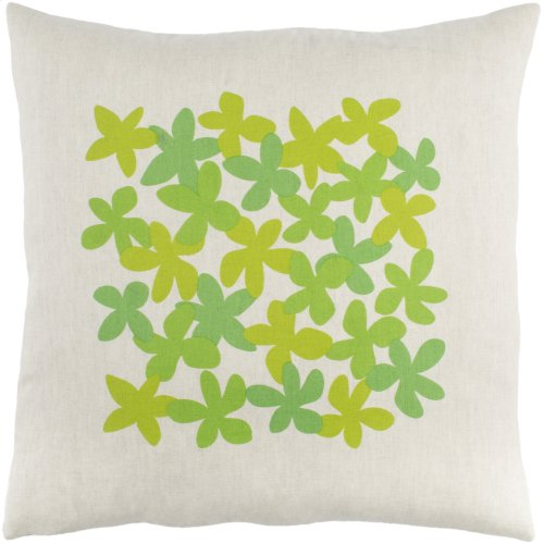 """Little Flower LE-003 22"""" x 22"""" Pillow Shell with Polyester Insert"""
