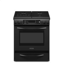 30-Inch 4-Burner Gas Slide-In Range, Architect® Series - Black
