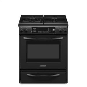 KitchenAid30-Inch 4-Burner Gas Slide-In Range, Architect® Series - Black