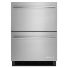 """Euro-Style 24"""" Double-Refrigerator Drawers"""