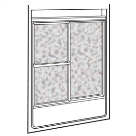 Showerite Framed Sliding Bath Shower Door - Silver