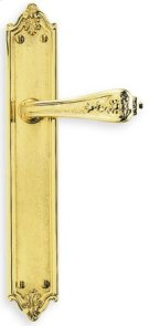 Ornate Narrow Plate Lever Latchset - Solid Brass in SB (Shaded Bronze, Lacquered) Product Image