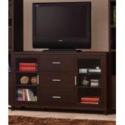 Contemporary Cappuccino TV Console Product Image