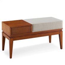 One Drawer Entryway Bench/Coffee Table with Seat Cushion #10131-CN/OW