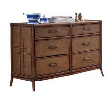 Palm Island Six Drawer Dresser