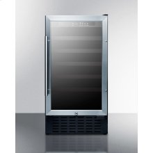 """18"""" Wide ADA Compliant Wine Cellar for Built-in or Freestanding Use, With Digital Controls, Lock, and LED Lighting"""