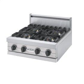 "Metallic Silver 24"" Sealed Burner Rangetop - VGRT (24"" Wide, four burner)"