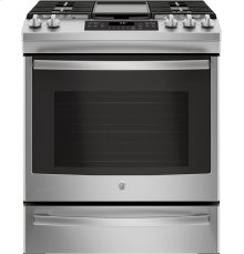 """GE® 30"""" Slide-In Front Control Convection Gas Range [OPEN BOX]"""