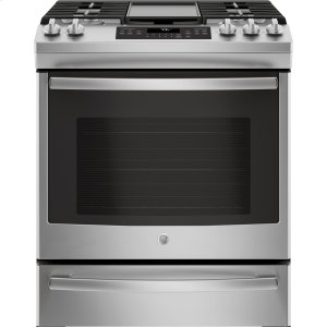 "GE®30"" Slide-In Front Control Convection Gas Range"