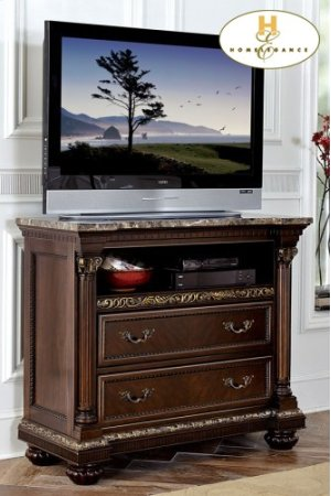 Night Stand with Faux Marble Top