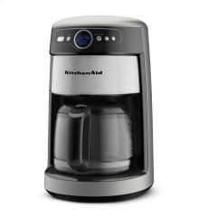 14 Cup Glass Carafe Coffee Maker - Contour Silver