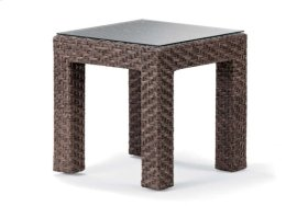 "20"" Square End Table w/ Tempered Glass Overlay"