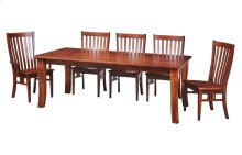 """42/72 Solid 5/4 Thick Top Large Essex Leg Table w/2-18"""" Leaf Kits"""