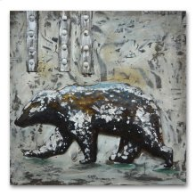 Bear 40x40 Mixed Media