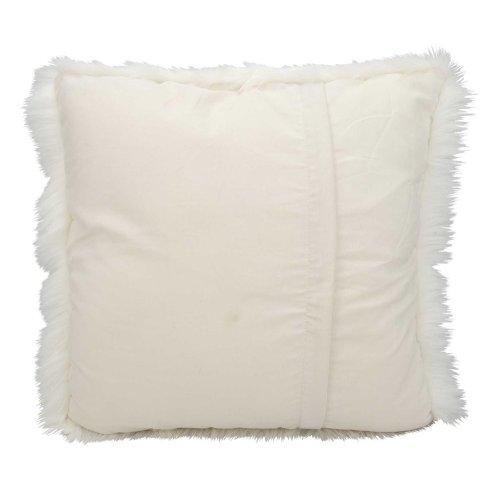 """Fur Fl100 White 1'10"""" X 1'10"""" Throw Pillows"""