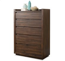 Modern Gatherings Five Drawer Chest Brushed Acacia finish