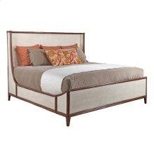 Queen Canvas Bed in Worn Ivory