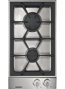 "Vario gas cooktop 200 series VG 232 214 Stainless steel control panel Width 11"" Natural gas"