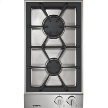 """Vario gas cooktop 200 series VG 232 214 Stainless steel control panel Width 11"""" Natural gas"""