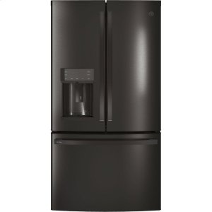 GE Profile™ Series ENERGY STAR® 22.2 Cu. Ft. Counter-Depth French-Door Refrigerator with Hands-Free AutoFill - BLACK STAINLESS